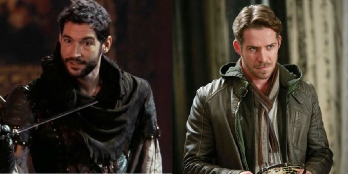 Tom Ellis (left) and Sean Maguire as Robin Hood.
