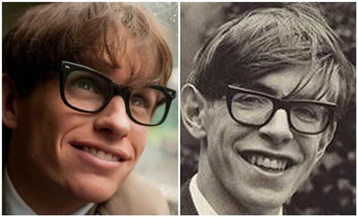 Eddie Redmayne & Stephen Hawking.
