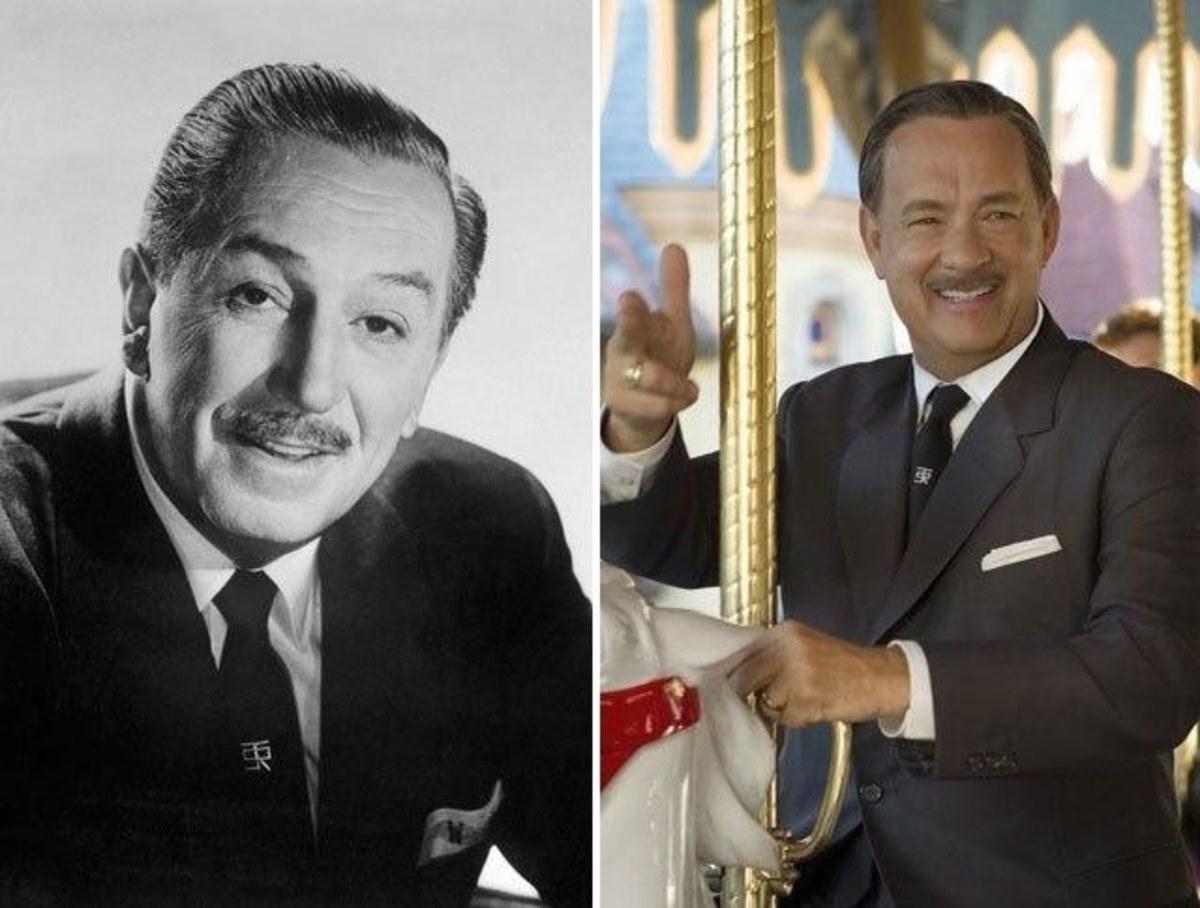 Walt Disney and Tom Hanks.