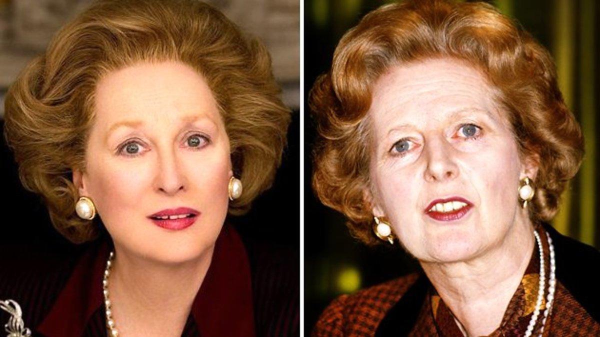 Meryl Streep & Margaret Thatcher.