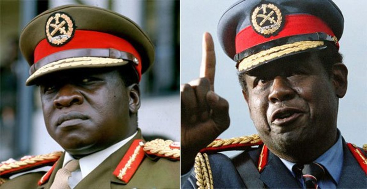 Idi Amin and Forest Whitaker.