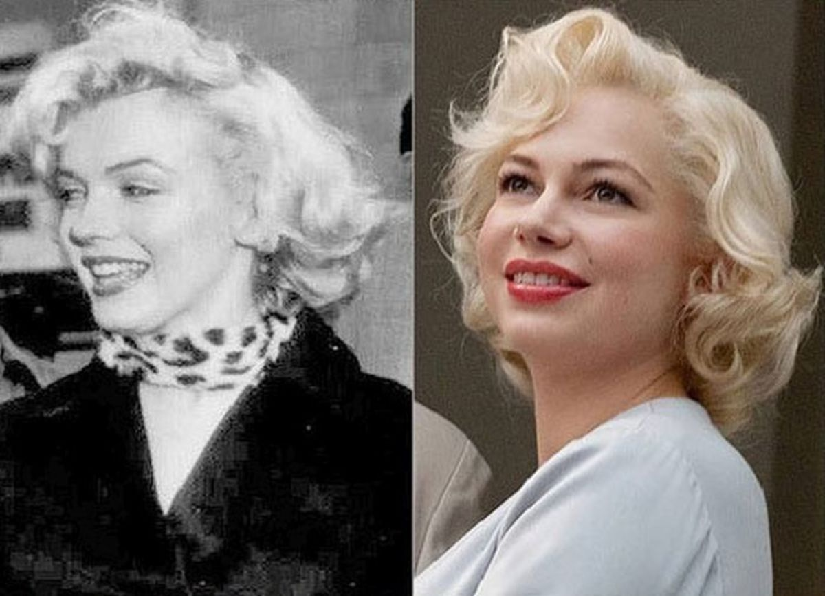 Marilyn Monroe and Michelle Williams.