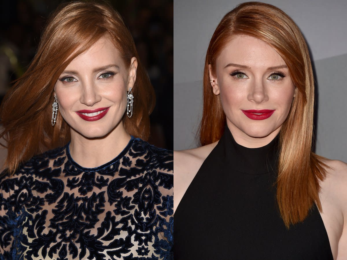Jessica Chastain & Bryce Dallas Howard.