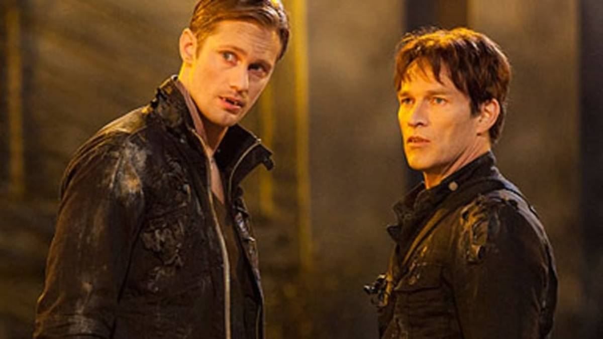 Alexander Skarsgård (Eric) and Stephen Moyer (Bill).