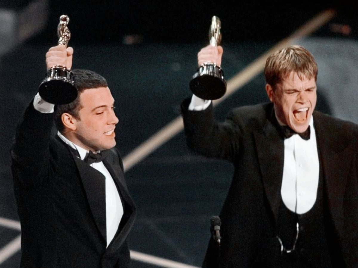 The pair during their 1997 Oscar's win.