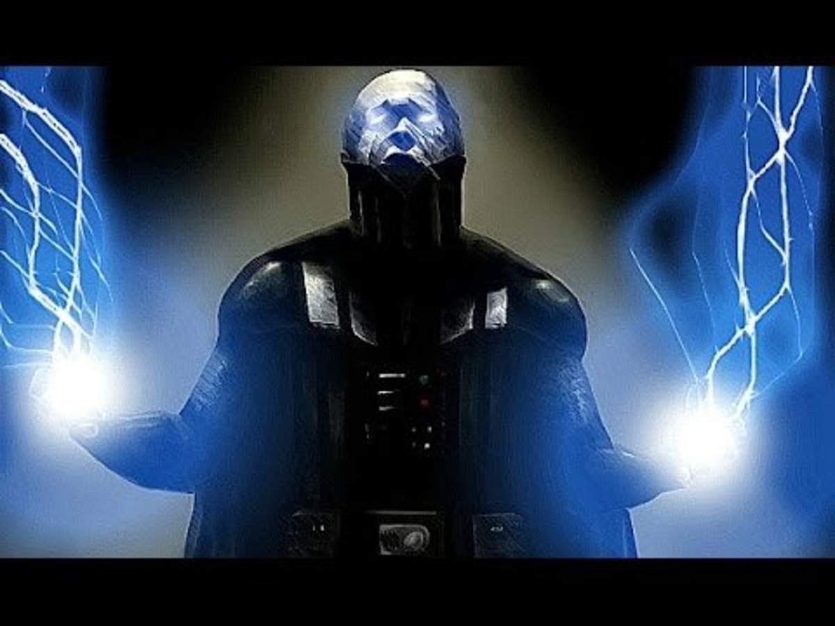 Vader using Force Lightning
