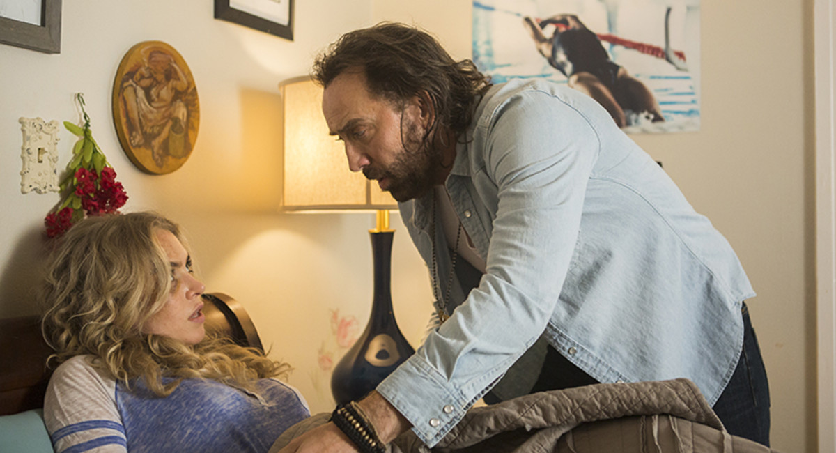 """So, I guess, """"Between Worlds"""" is just Nicolas Cage waking women up while they sleep."""