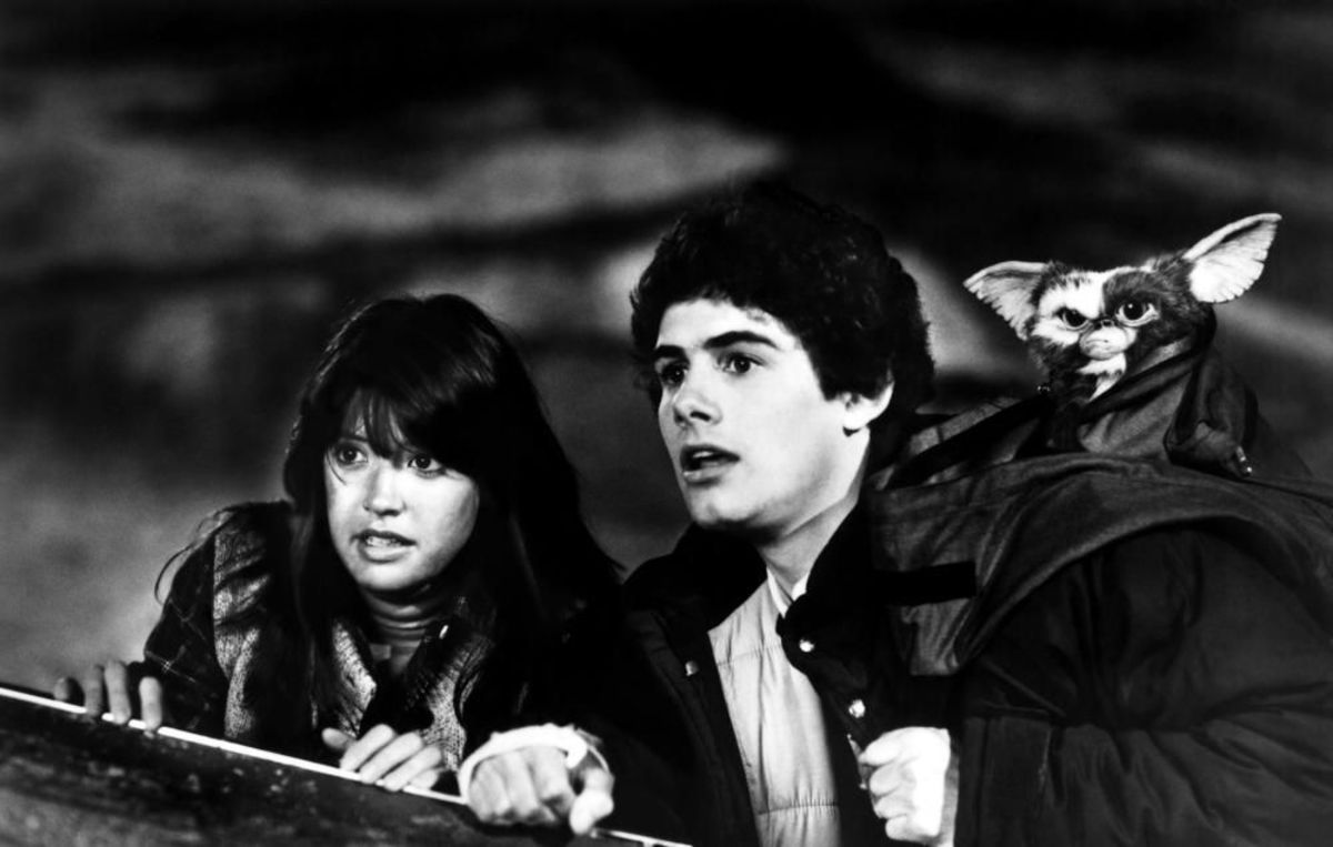 Zach Galligan and Phoebe Cates in Gremlins (1984)