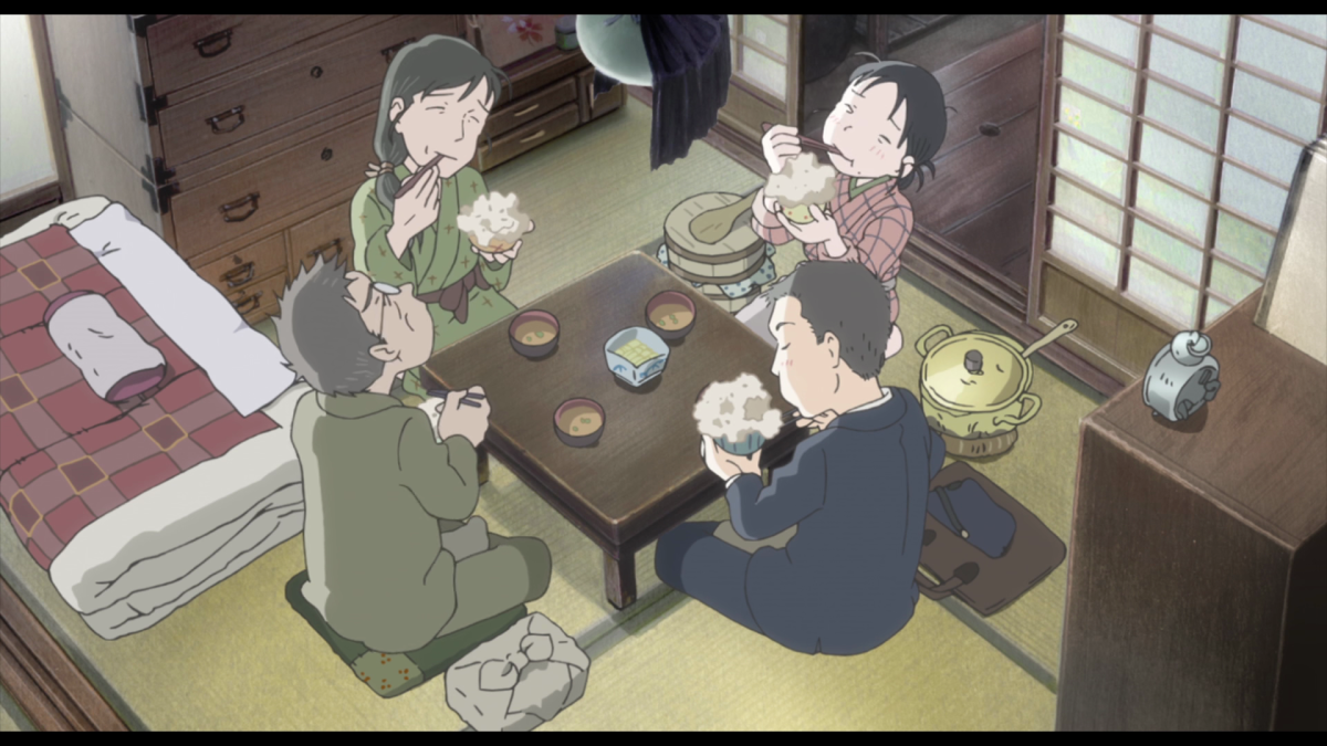 Suzu and the Houjo family learn the hard way that recipes derived from desperate times of wars long past will inevitably be less than appetizing.