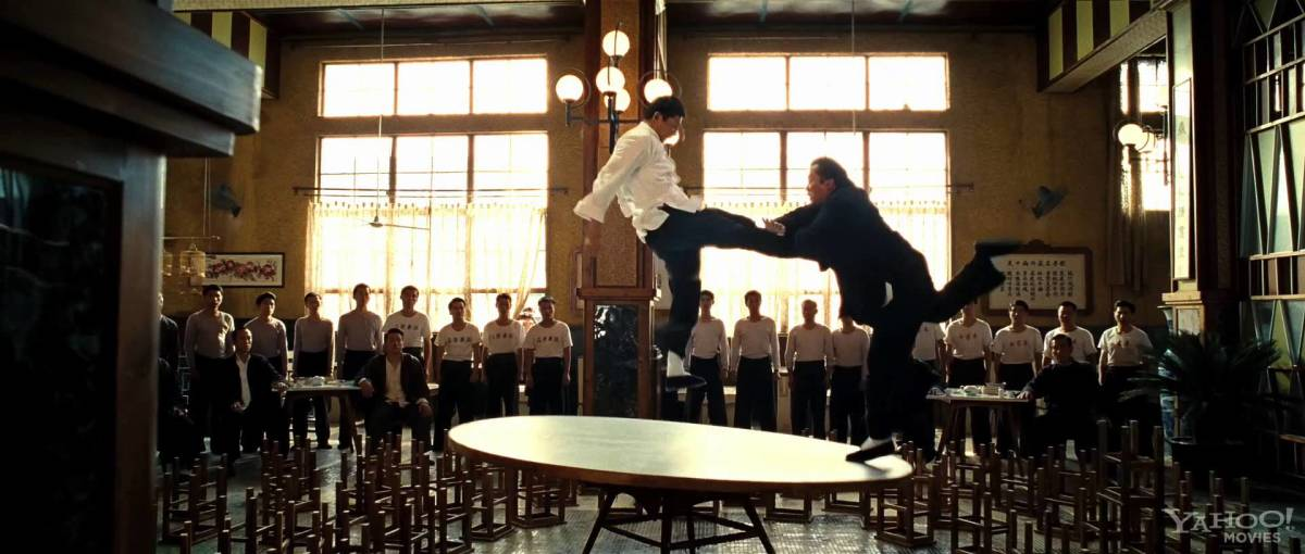 One of the coolest scenes ever. Ip Man and Hung face off at a fight ceremony.