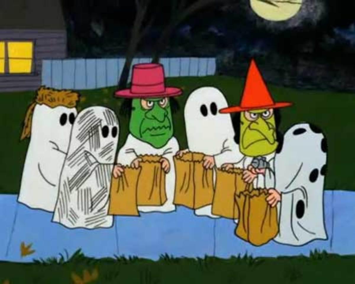Peanuts gang trick or treating