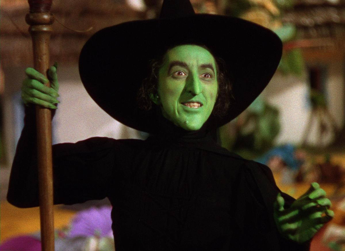 Actress Margaret Hamilton as the Wicked Witch of the West.