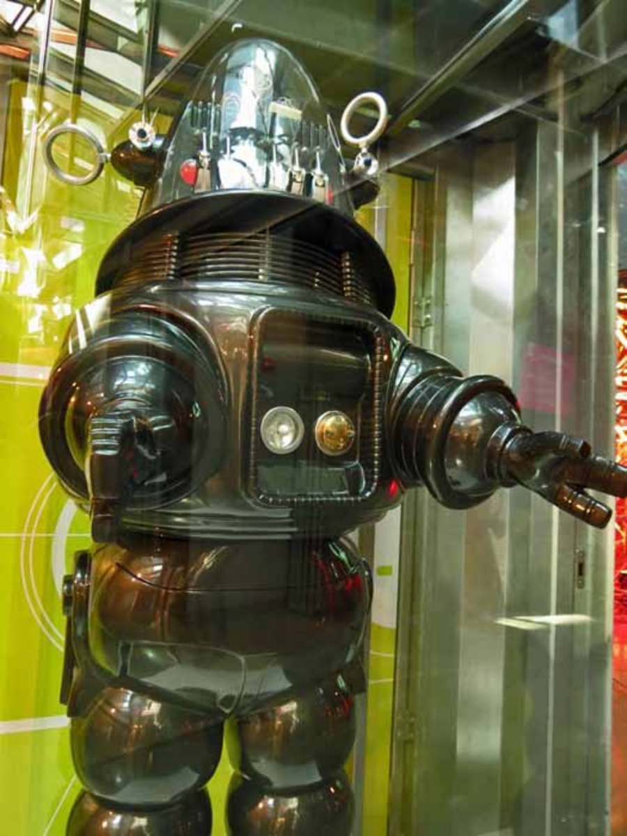Robbie the Robot in museum
