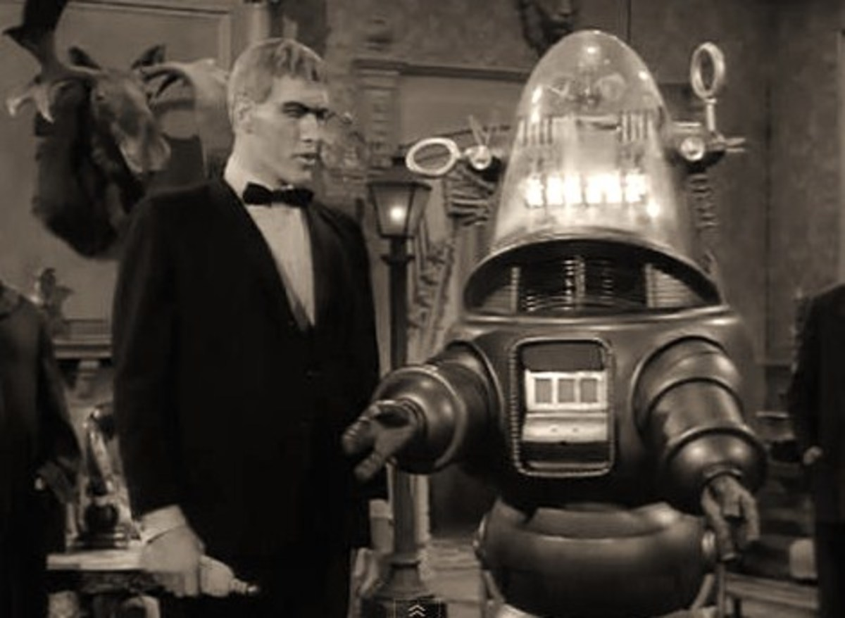 Robby the Robot on episode of The Adams Family