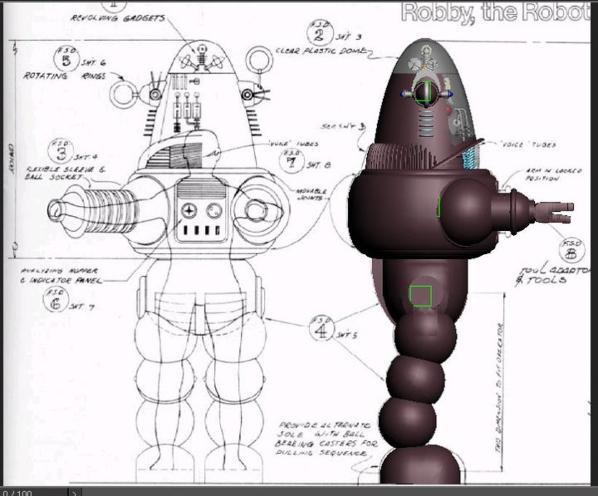 Design plans for Robby the Robot