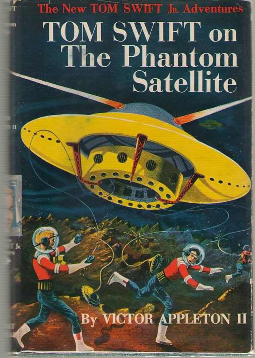 Book cover of Tom Swift on The Phantom Satellite by Victor Appleton II