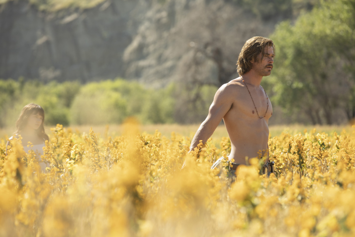 "Chris Hemsworth as Billy Lee in, ""Bad Times at the El Royale."""
