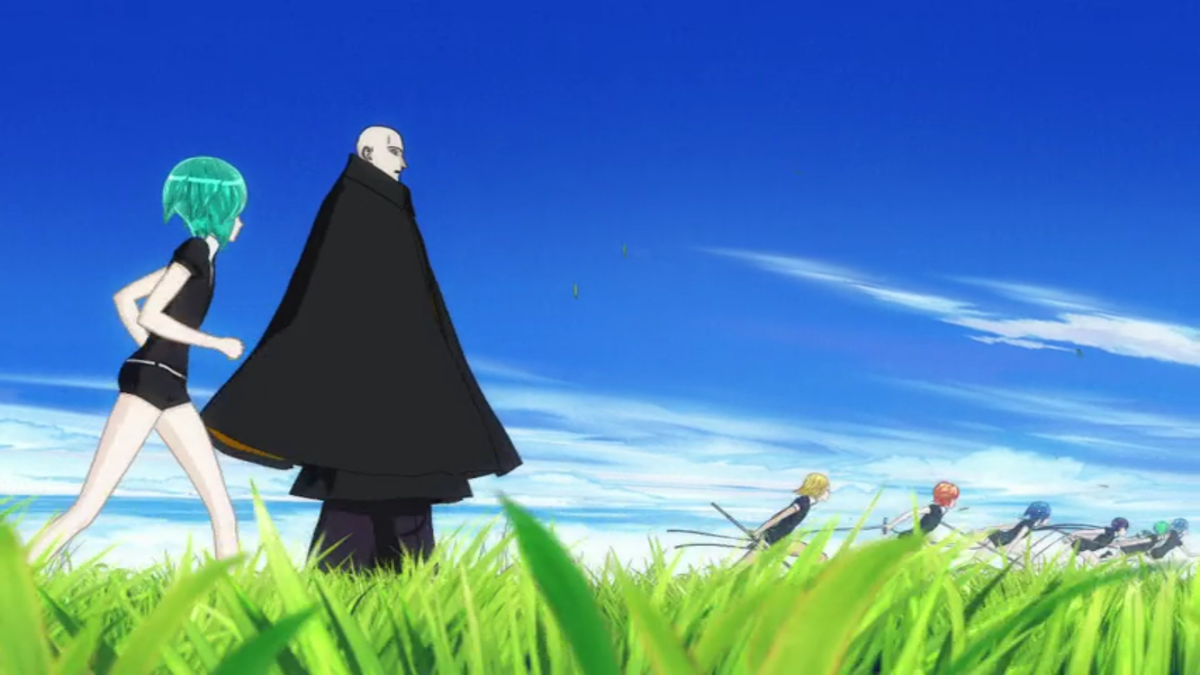 Phos, trailing Master Kongo, and several others race to the newest Lunarian sighting.