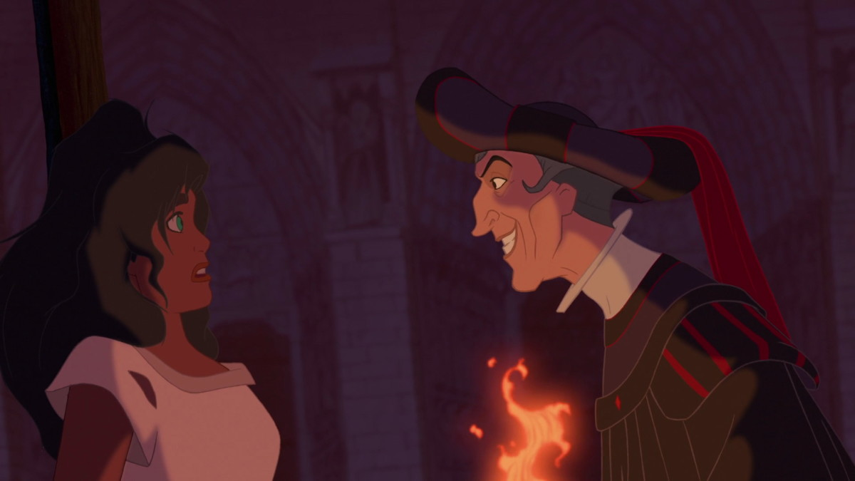 Esmeralda and Frollo