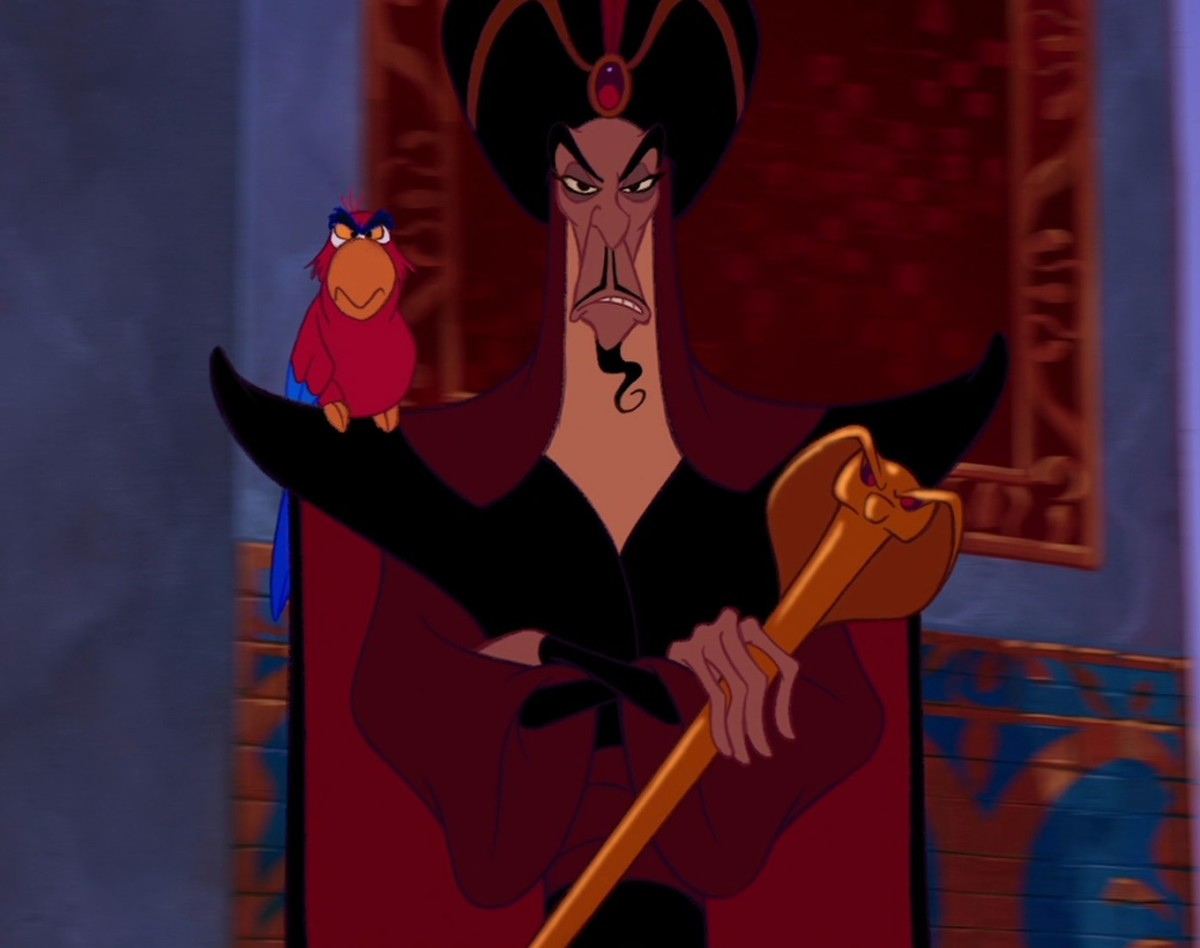 Iago and Jafar in Aladdin