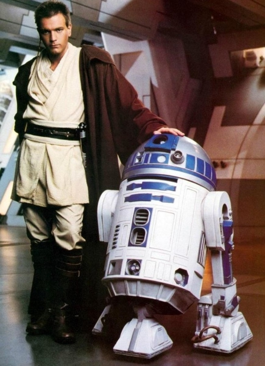 Young Obi-Wan with R2