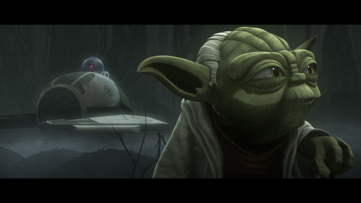 R2 and Yoda in The Clone Wars