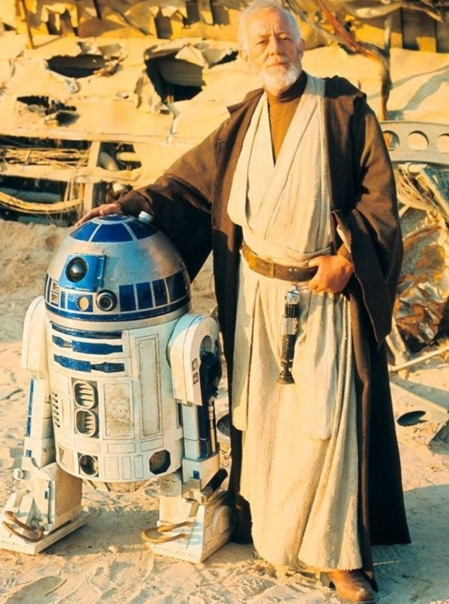 Old Obi-Wan with R2