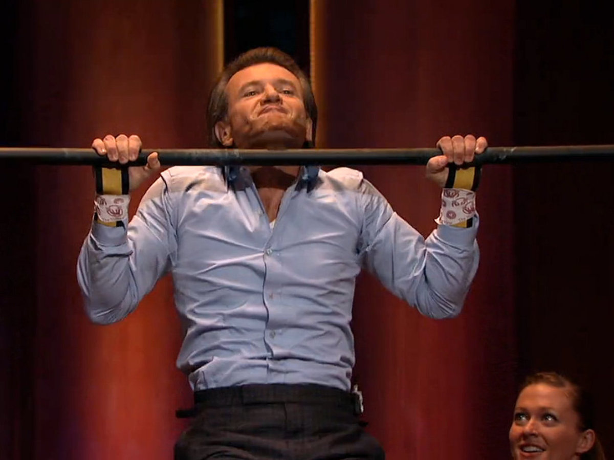 Robert Herjavec is always willing to try out inventions and gadgets presented in the tank.