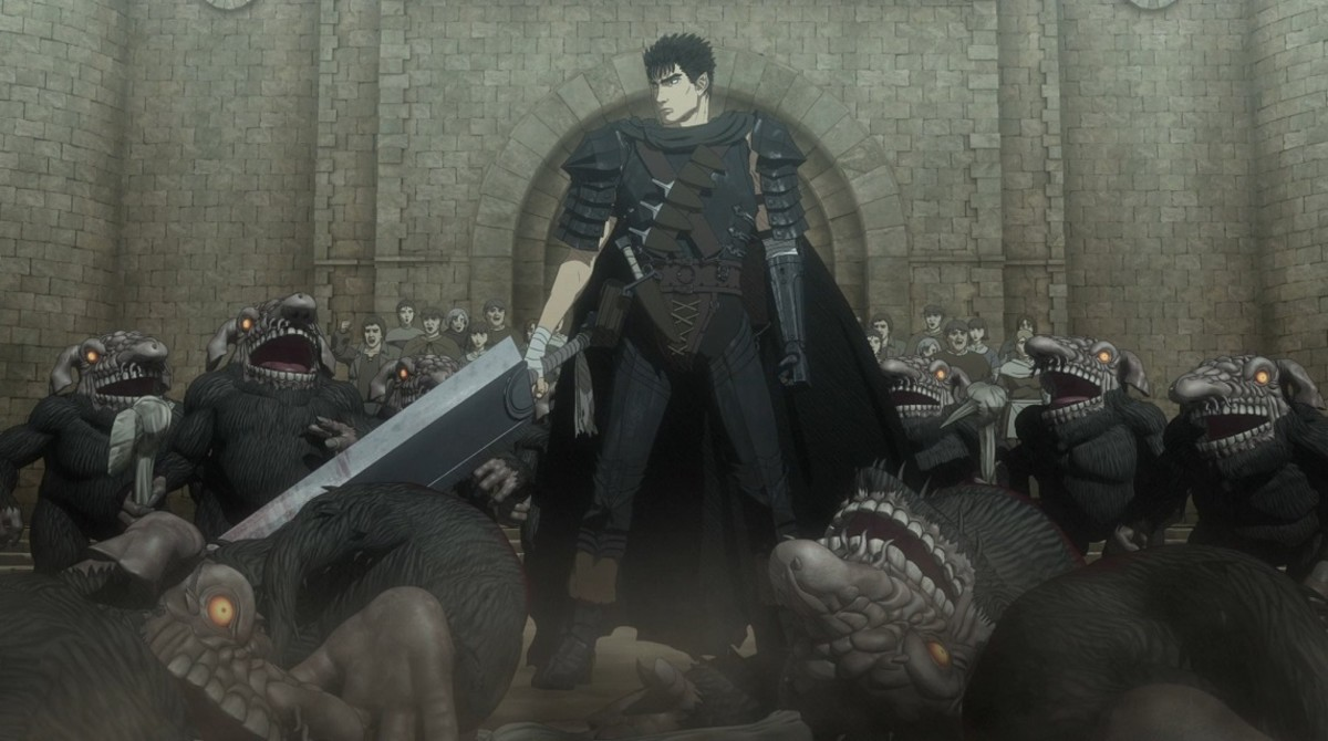 This is the tragedy-ridden tale of Guts the Black Swordsman.