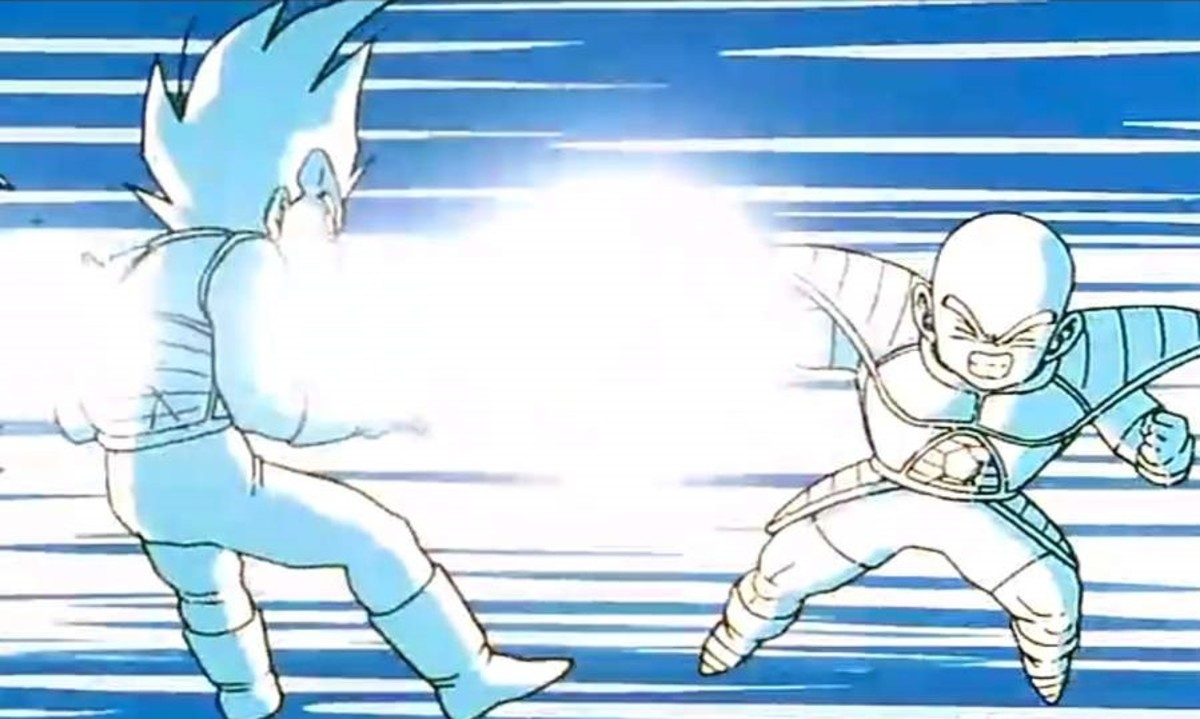 Vegeta asks Krillin to attack him