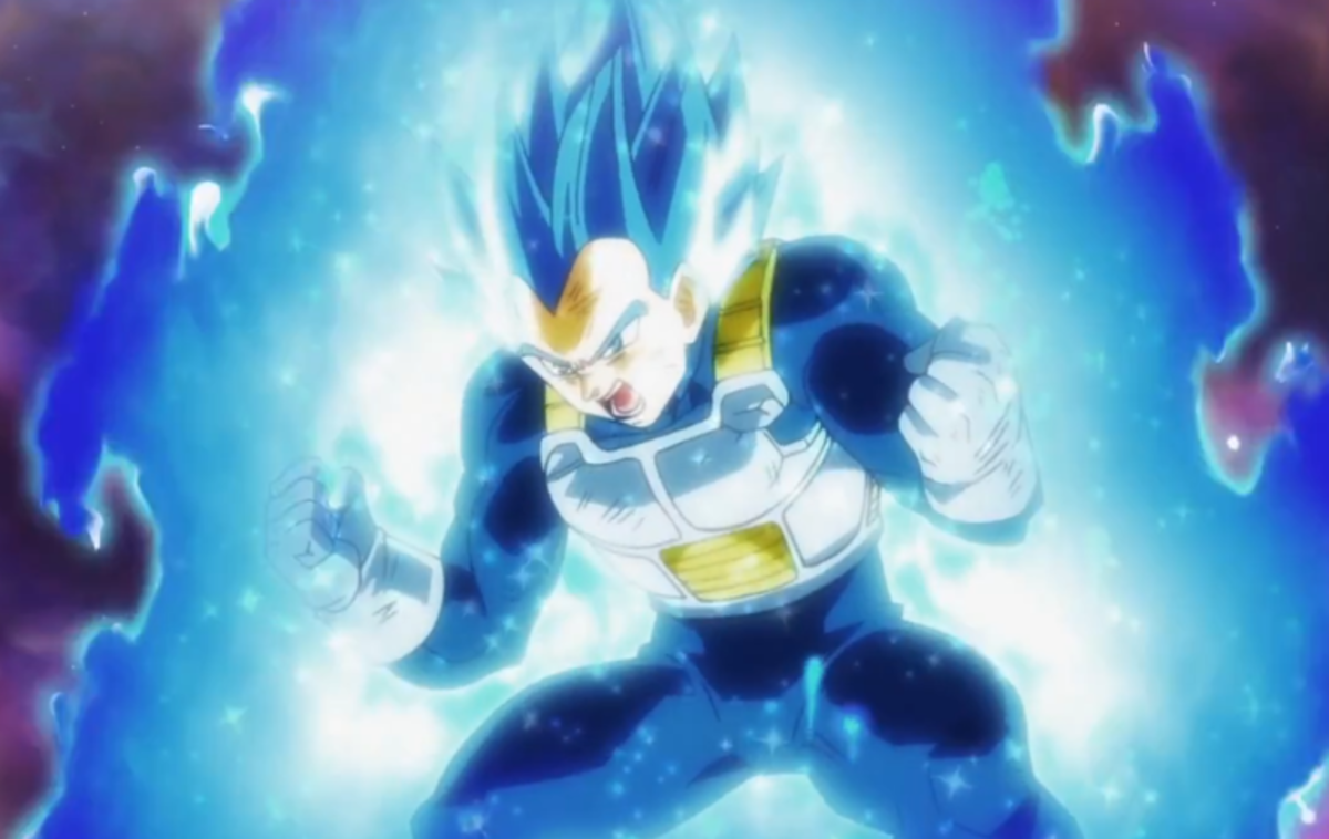 Vegeta in Super Saiyan Blue Evolved