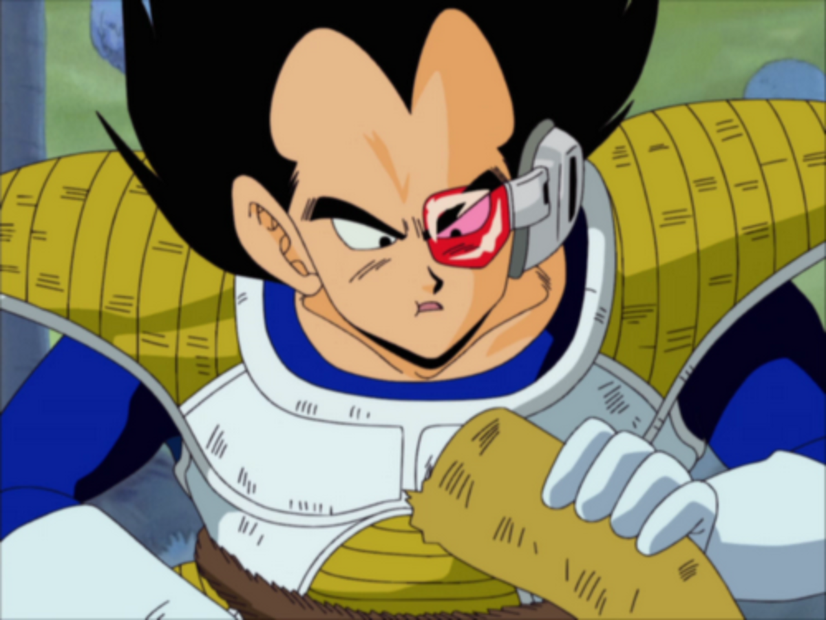 Vegeta eats an alien