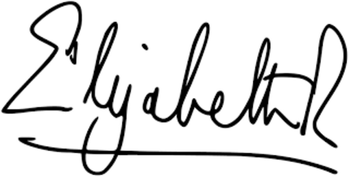 Queen Elizabeth's signature
