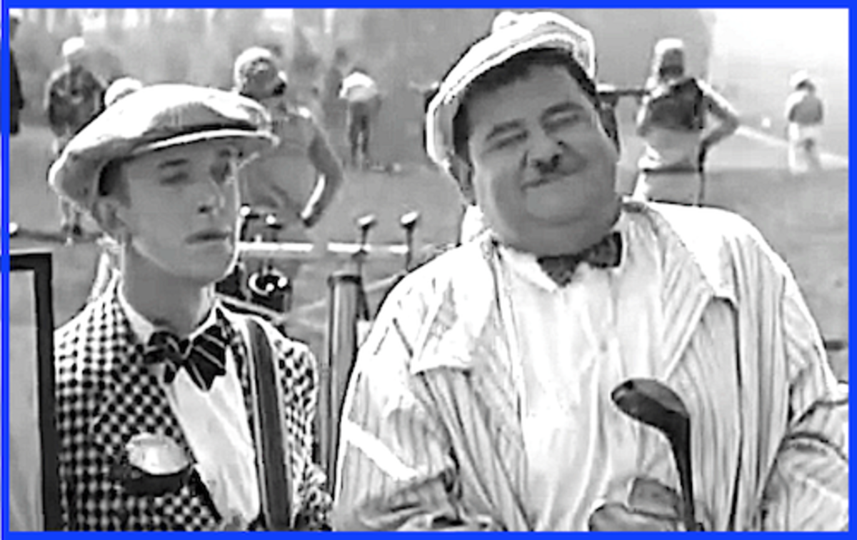 Stan Laurel and Oliver Hardy both loved to golf, but Ollie loved it with a passion and was considered one of Hollywood's best golfers.