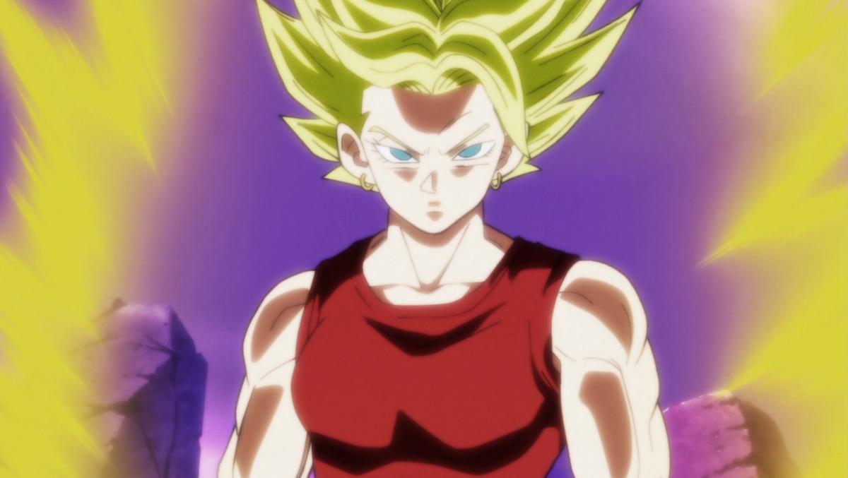 Kale in her Legendary Super Saiyan form