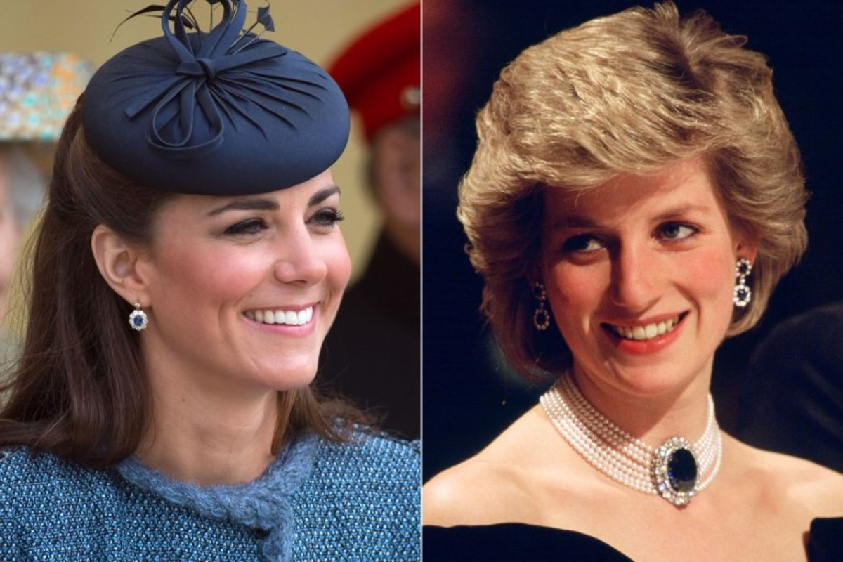 Kate Middleton wearing Princess Diana's earrings