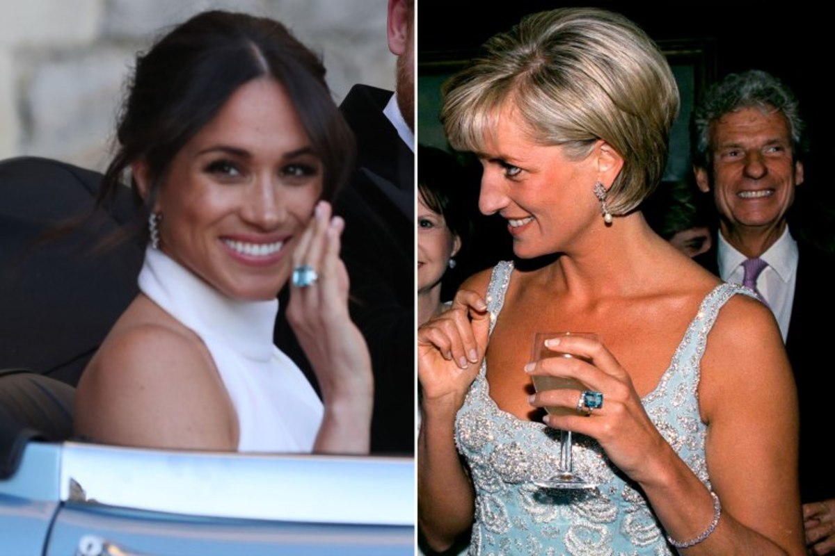 Princess Diana's aquamarine cocktail ring