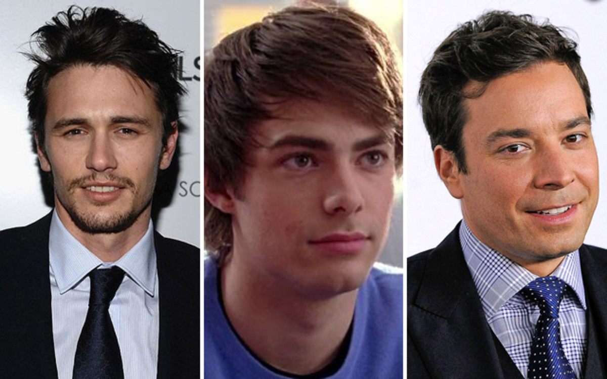 (From left): James Franco, Jonathan Bennett & Jimmy Fallon.