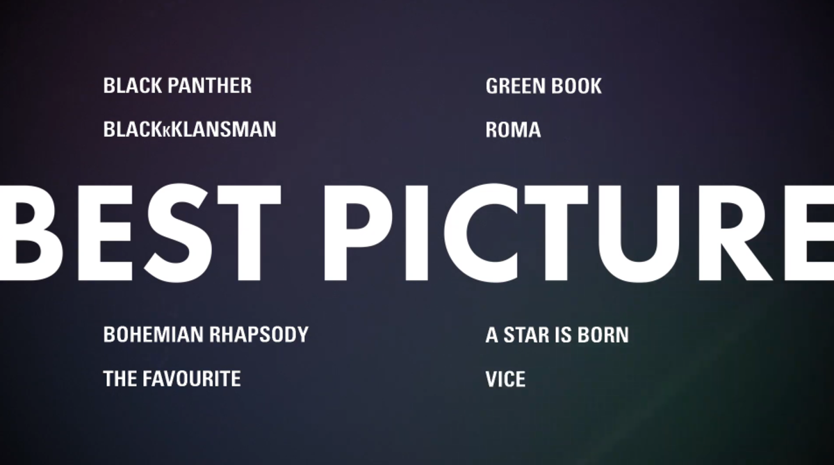 The Best Picture Nominations are brought to you by the letter 'B'?