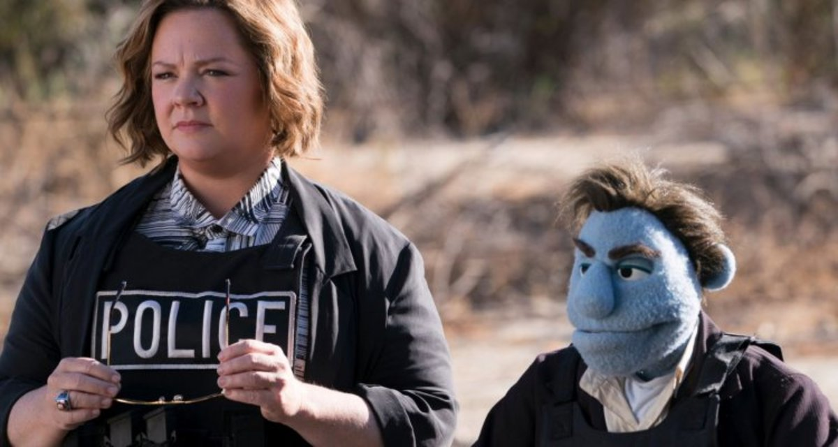 Melissa McCarthy and a bag of stuffing.