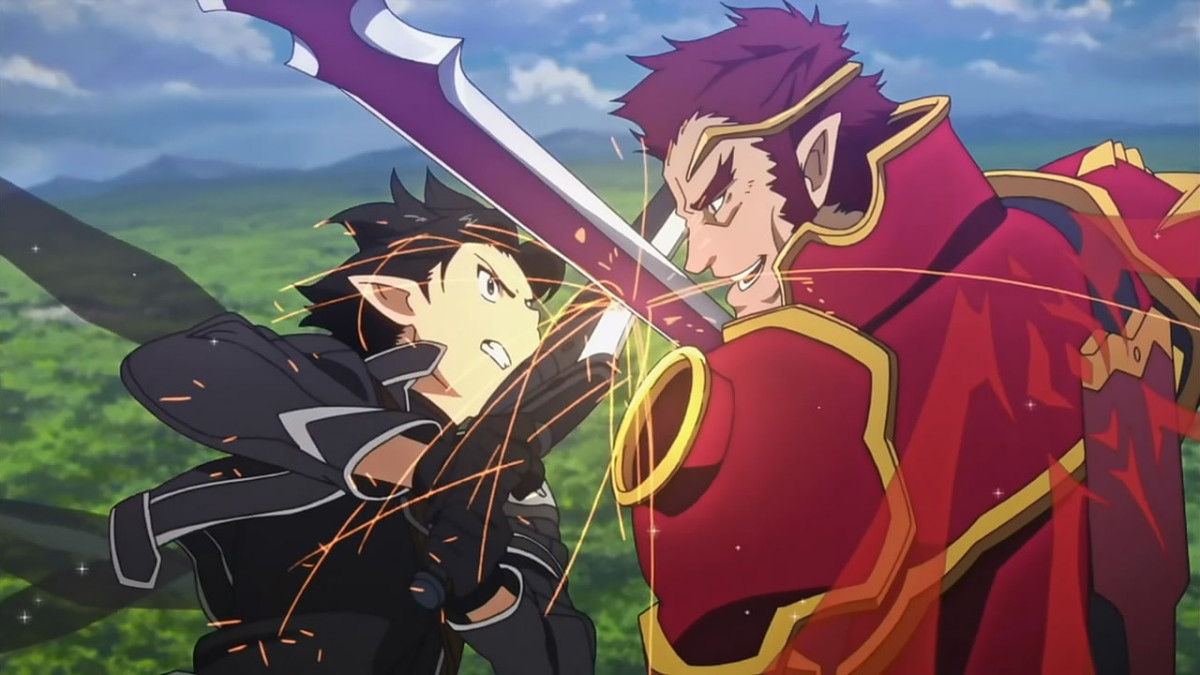 During his time on Alfheim Online, Kirito comes to blows with a powerful player to prove his worth.