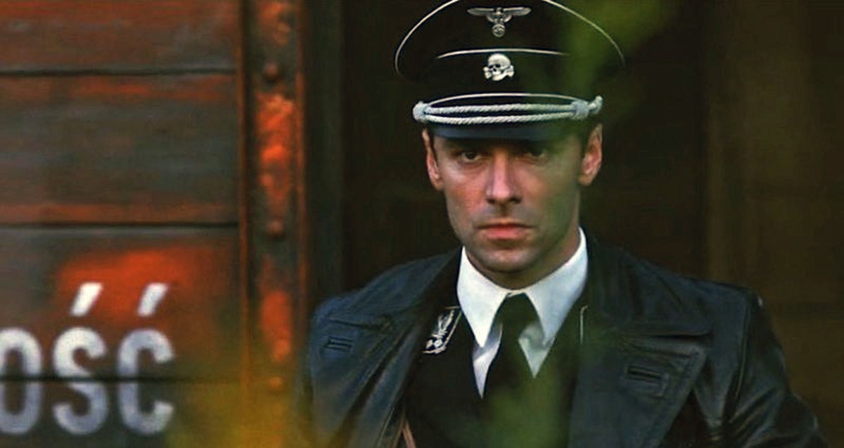 "Aidan Turner as a young Calvin Barr in, ""The Man Who Killed Hitler and Then The Bigfoot."""