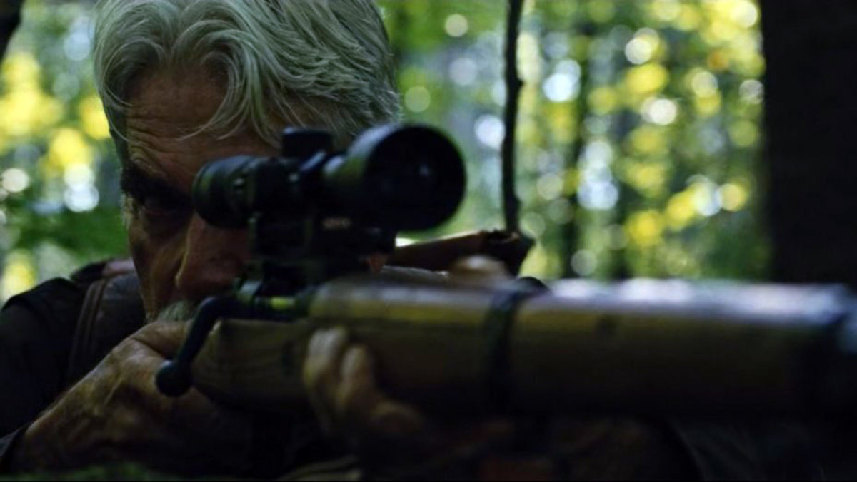 "Sam Elliott as Calvin Barr in, ""The Man Who Killed Hitler and Then The Bigfoot."""