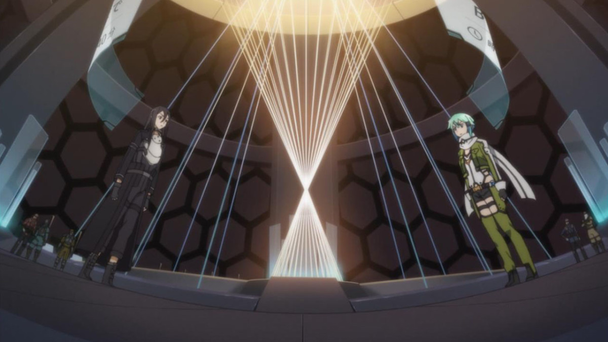 Kirito and Sinon, ready to face each other in the upcoming Bullet of Bullets tournament.