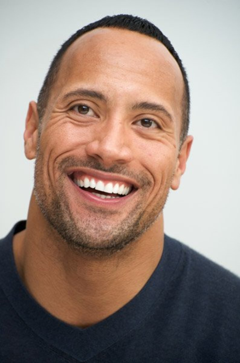 "Dwayne ""The Rock"" Johnson has a white mother and a black father."