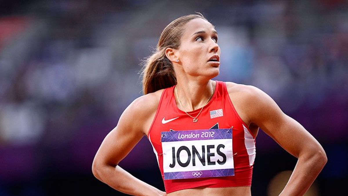 Lolo Jones has a white mother and a black father.