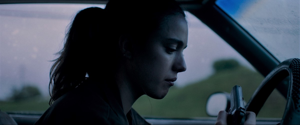 "Margaret Qualley as Delia Angus in, ""Donnybrook."""