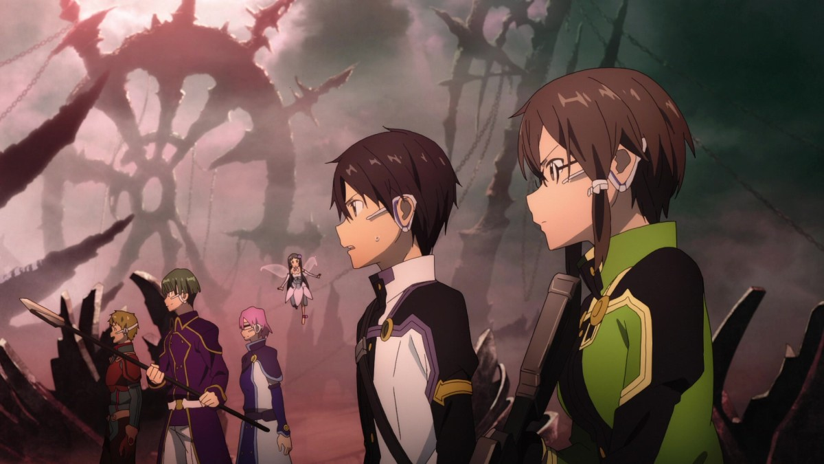 As a non-SAO survivor, Sinon joins Kirito in hunting down an old SAO boss reimagined for Ordinal Scale.
