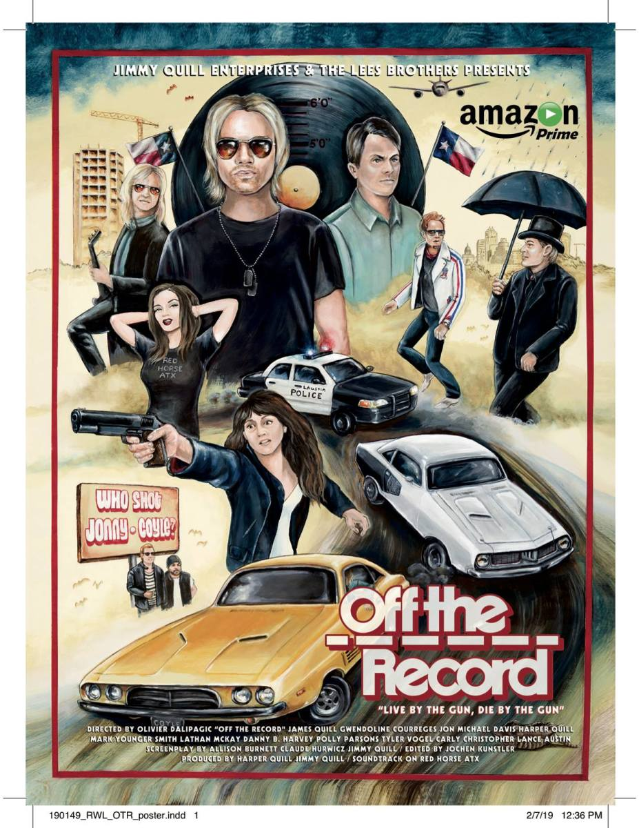 This is the official movie poster for Off the Record, which you can find on Amazon Prime.