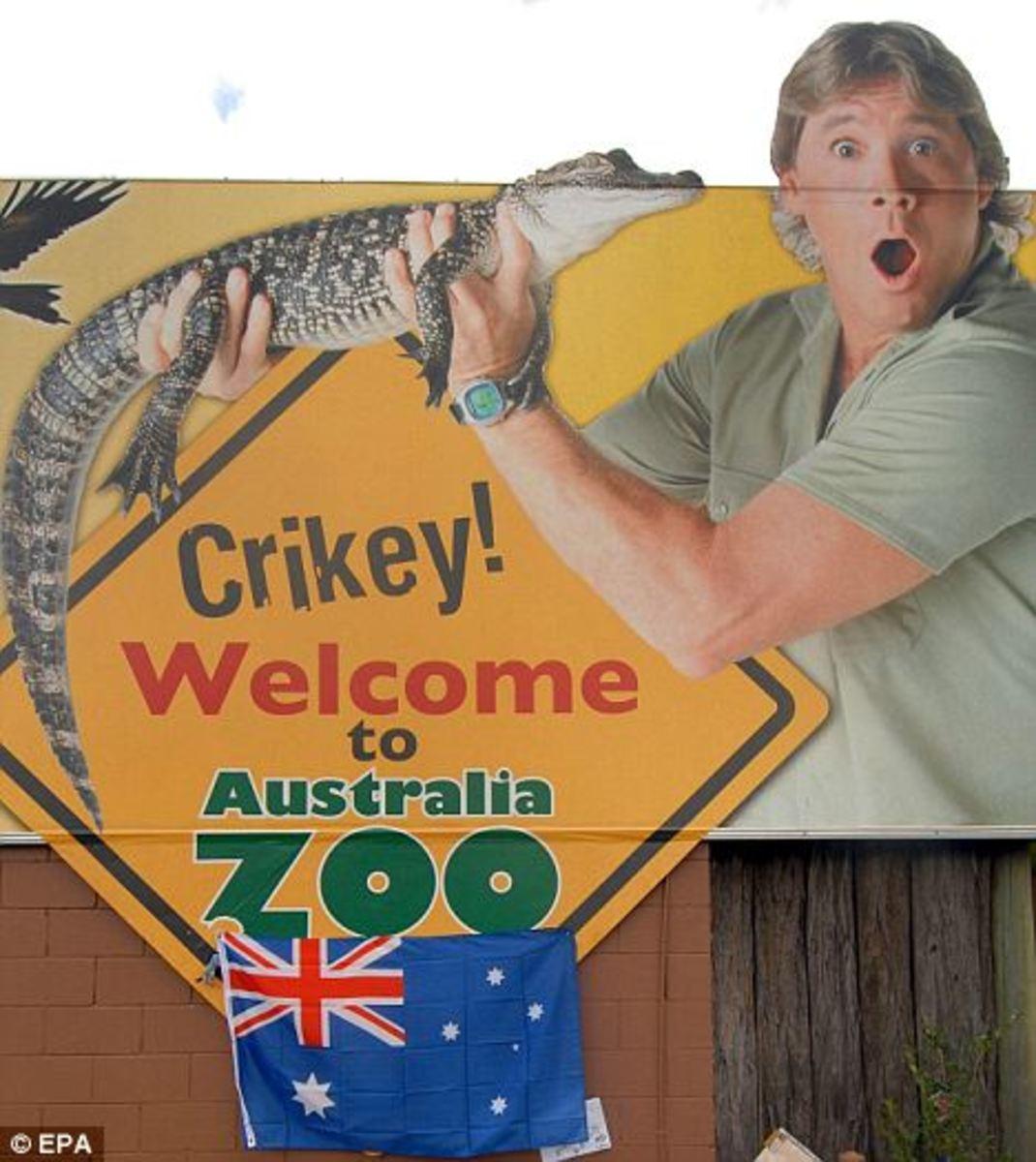 Poster at Australia Zoo